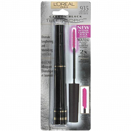 L'Oreal Carbon Black Telescopic Dramatic Lengthening and Intensifying Mascara Wimperntusche Carbon Black 935