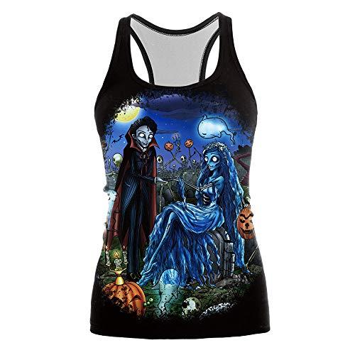 Frauen Männer Halloweenfrauen Männer Halloween Jumperhalloween Digital Print Weste Weibliche Zombie Dance Weste, S 3D