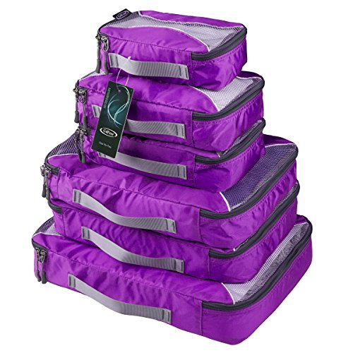 G4Free Packing Cubes Value Set for Travel - 6pcs (C-Purple)
