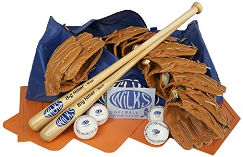 Wilks Senior Teambuilder Softball Set - Blue, 90 cm
