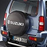 Suzuki - Cubierta para rueda de repuesto de Suzuki Jimny, sin placa, diseño con la letras de Suzuki