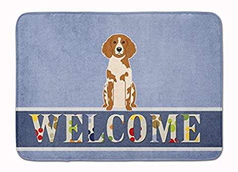 Caroline's Treasures BB5653RUG Brittany Spaniel Welcome Floor Mat, 19 x 27, Multicolor