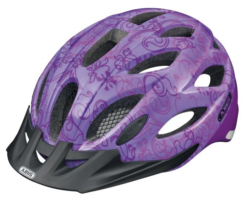 Abus Lane-U Casco da bici da donna, Viola (garden purple), 56-62 cm