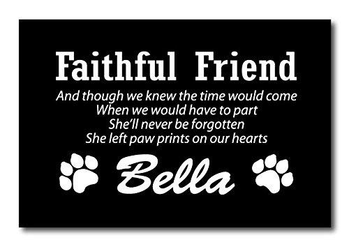 Personalizzato Pet targa commemorativa con opzionale Oak dorso in legno e picchetto, Alluminio, Plaque Only