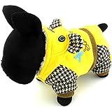 smalllee _ Lucky _ store pequeño perro de mascota gato Ropa Cálido Forro Polar dibujos animados con capucha abrigo chaqueta Mono Splicing estilo