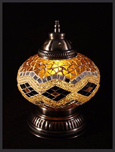 Gold-mosaik-tisch-lampe (Mosaiklampe Mosaik - Tischlampe L Stehlampe Tischleuchte orientalische lampe Gold EXKLUSIV nur bei Samarkand-Lights)