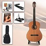 Einsteiger Gitarrenset Easy Tune 4/4 - 4/4 Konzertgitarre mit Zubehör, Clip-Stimmgerät und hervorragendes Gitarren-Lehrbuch mit CD