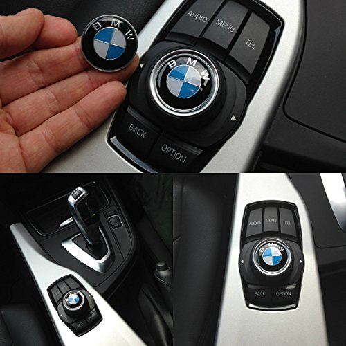 bmw-29-mm-interior-boton-de-sonido-multimedia-idrive-controlador-badge-logo-emblema