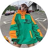 Wild-lOVE Femmes Vêtements Streetwear Manteau lâche Manteau Femme Manches Longues - - Taille Unique...