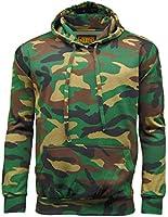 Mens Game Woodland Camouflage Fleece   Hooded Top   Zip Hoodie   Joggers