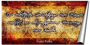 Kunstdruck Zitat von Franz Kafka - Poster - Antlitz in 50x100