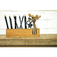 Stifthalter mit Vase, Aufbewahrung Stifte, Schreibtisch, Organisation Stifte, Kosmetikständer