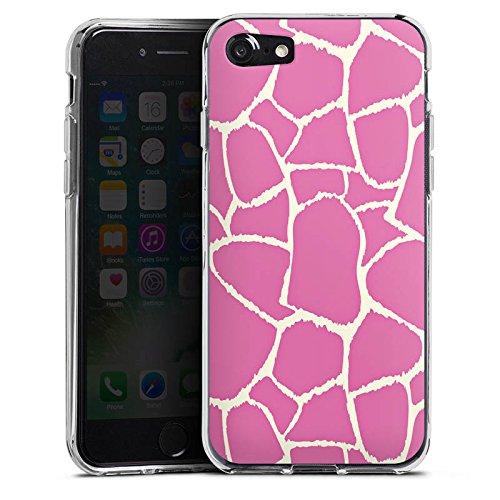 Apple iPhone X Silikon Hülle Case Schutzhülle Giraffe Pink Animal Print Silikon Case transparent