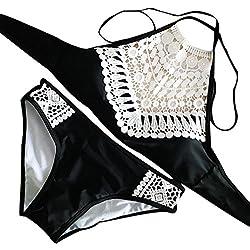 LANSKIRT_Bikinis Bañador Tanga 2019 Traje De BañO Dividido Encaje Bikini De Playa Trajes BañO 2019 Dos Piezas sexy Conjunto para S Vino