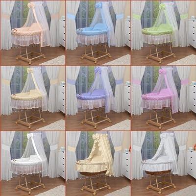 WALDIN Cuna Moisés, carretilla portabebés XXL, 9 colores a elegir