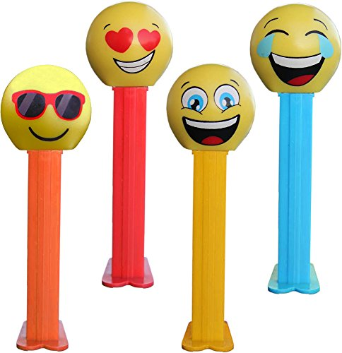 emoji-pez-dispenser-with-two-refils-sold-singly-one-random-character-supplied