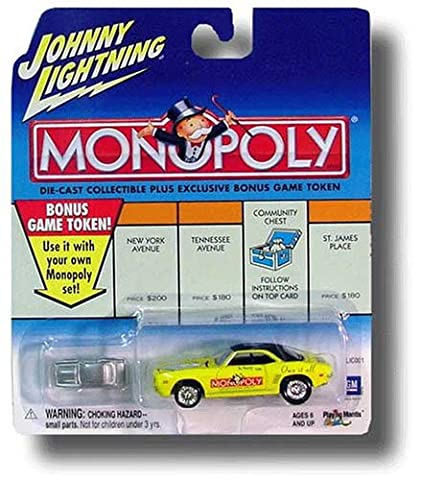 Johnny Lightning 2001 Monopoly Marvin Gardens '69 Chevrolet Camaro Car by Playing Mantis