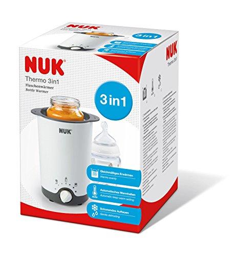 NUK Thermo 3 in 1 Flaschenwärmer, zum einfachen, sicheren und schonenden Erwärmen, Auftauen und Warmhalten, für Gläschen und Flaschen