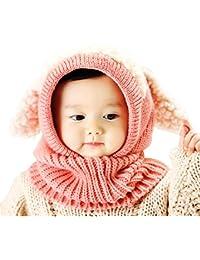 Bonnet de Tricote Renard Ensemble Bonnet Echarpe Hiver Pour Enfant, Pershoo Hiver En Laine TricotéS Renard Des Chapeaux ÉCharpes Bouchon Bonnet De Bonnet Pour BéBéS Unisexe, Chapeau mignon de Fox, Cute Fox Chapeau
