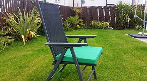 HomeZone® 50 cm x 45 cm résistant à l'eau Fauteuil de luxe et meubles de terrasse rembourré Coussin meubles de jardin Pad carré intérieur/extérieur (2, Vert)