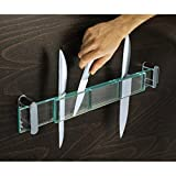 Praktischer Messerhalter aus Glas ca.55×6×5 cm Messer Block inkl. Befest.Mat.