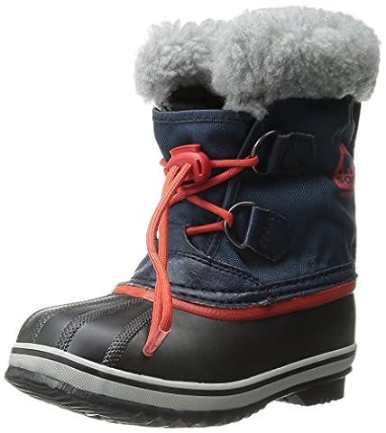 Sorel YOOT PAC NYLON, Unisex-Kinder Warm gefütterte Schneestiefel, Blau (Collegiate Navy, Sail Red 464), 37 EU