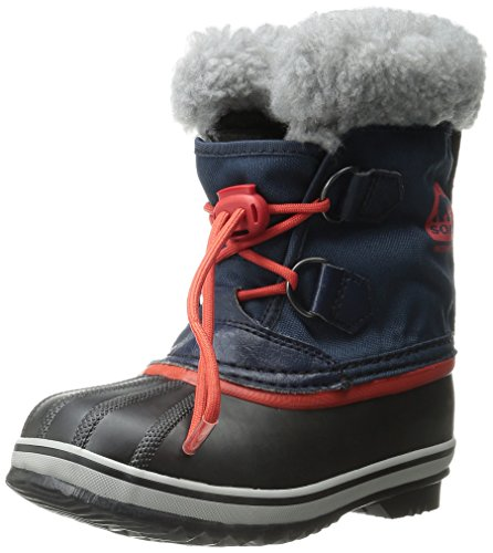 Sorel Yoot Pac Nylon Unisex-Kinder Schneestiefel, Blau (Collegiate Navy, Sail Red 464), 33 EU (Winter Kinder Boot)