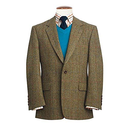 Harris Tweed Stromay Veste - Marron, 44 L