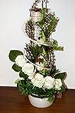 tatjana-land-deko Seidenblumen Arrangement Kunstblumengesteck Künstliche Blumendekoration TD 6 (TD6-01)