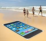 Smartphone Pearl Beach, in microfibra, 170x 100cm, colore nero