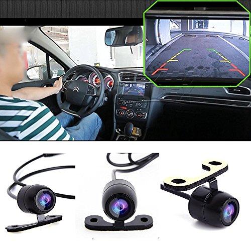 cuteco Universal de visión trasera para coche cámara de copia de seguridad cámara trasera cámara de visión trasera Aparcamiento cámara al por mayor impermeable IR visión nocturna