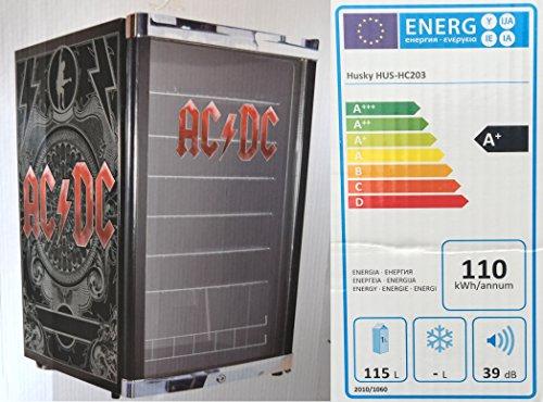 Husky HUS-HC 203 Highcube Flaschenkühlschrank ACDC / A+ / 83,5 cm Höhe / 110 kWh/Jahr / 130 L Kühlteil inkl. Reinigungstuch