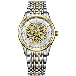 STARKING Women's AL0185GS81 Skeleton Automatic Stainless Steel Watch Gold Tone