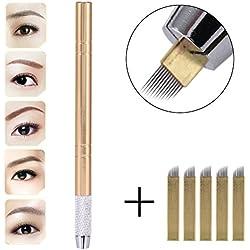 Pluma del Tatuaje Ceja 3D Microblading Aguja Lápiz de La Pluma Manual Semi-Permanente Herramienta de Maquillaje