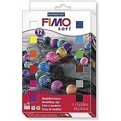 Staedtler 802301. Bloques de masa para modelar Fimo soft. Caja con 12 unidades.