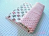 Eule Babydecke Eulen Kuscheldecke Decke mit Name Sterne Baby Bettdecke und Kissen Neugeburt Decke Personalisiert Neugeborene Decke rosa Babydecke