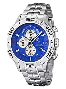 Festina - F16565/7 - Montre Homme - Quartz - Chronographe - Bracelet Acier inoxydable Argent
