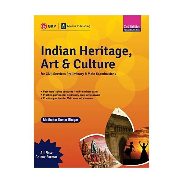 Indian Heritage, Art and Culture (Preliminary & Main) 2ed  – Multicolour Book