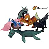 Dragon dinosaur fantasy toy plastic figures set of 5 in a poly bag