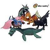 Lello and Monkey Figuras de dragón de juguete - juego de 5