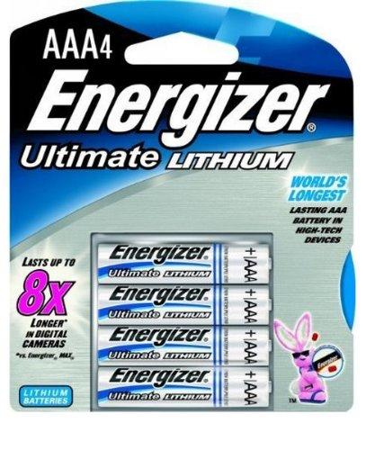 Energizer L92Lithium Batterie-Batterien (Lithium, Zylindrische, 4Stück (S), AAA, Silber) (Aaa-batterien Energizer Lithium)