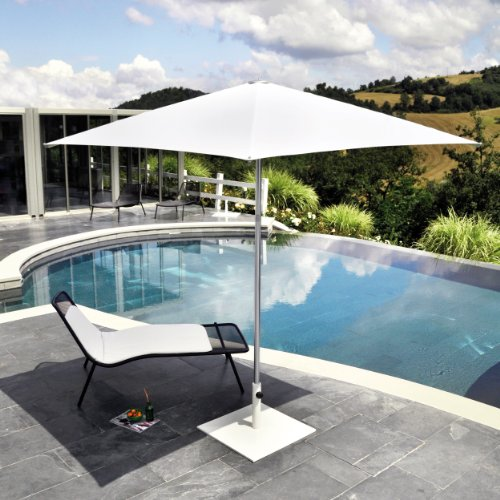 Shade Sonnenschirm quadratisch 300 x 300 cm - weiß