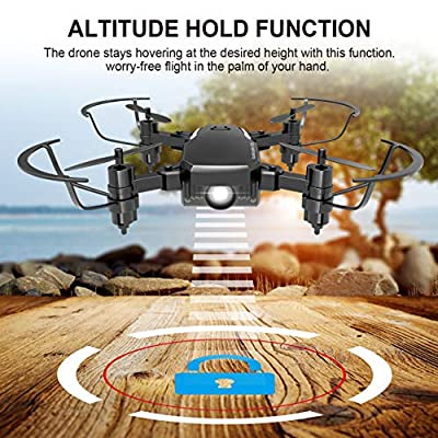 Mini Drone 2.4GHz 4CH 6-Axis RC Remote Control Nano Quadcopter Best Drone for Kids and Beginners Mini Pocket Drone RC Helicopter with Altitude Hold, 3D Flip, Headless Mode,One Key to Return and LED Light,Good Choice for Drone Training