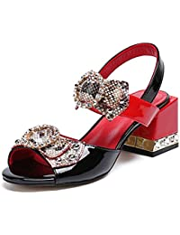 Amazon Para Tacón Mujer Zapatos De esSandalias Rojas pUMVzSqG