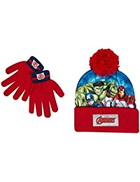 Boys Kids Avengers Winter Hat And Gloves Set