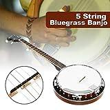 TQ Banjo a 5 Corde per Chitarra Classica in Legno di Mogano, Basso Occidentale, Ukulele, per Strumenti Musicali a Corde