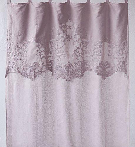 Amaranda casa - tenda brigitte lino 100% con mantovana
