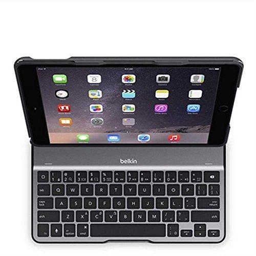 Belkin F5L190EABLK QODE Ultimate Lite Tastiera e Custodia Protettiva Folio per iPad Air 2, Nero