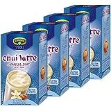 Krüger Chaï Latte Classic India, Vanille-Cannelle, Thé au Lait, Lot de 4, 4 x 10 sachets portionnables