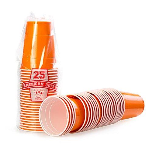 Red Celebration 2500 x Orange Gobelets Américains - Beer Pong Cups Original 50cl - Party Grand jetables Verres en Plastique 16oz - Plusieurs Couleurs | College & Anniversaire Tasses